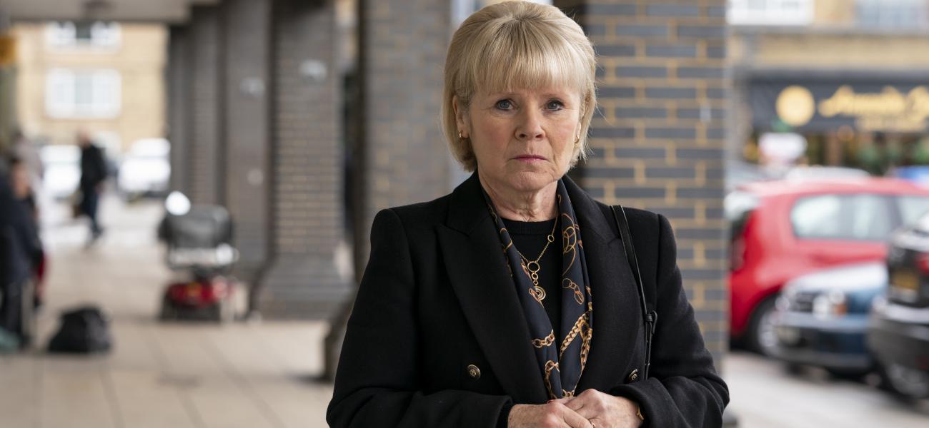 ITV's A CONFESSION stars IMEDLA STAUNTON