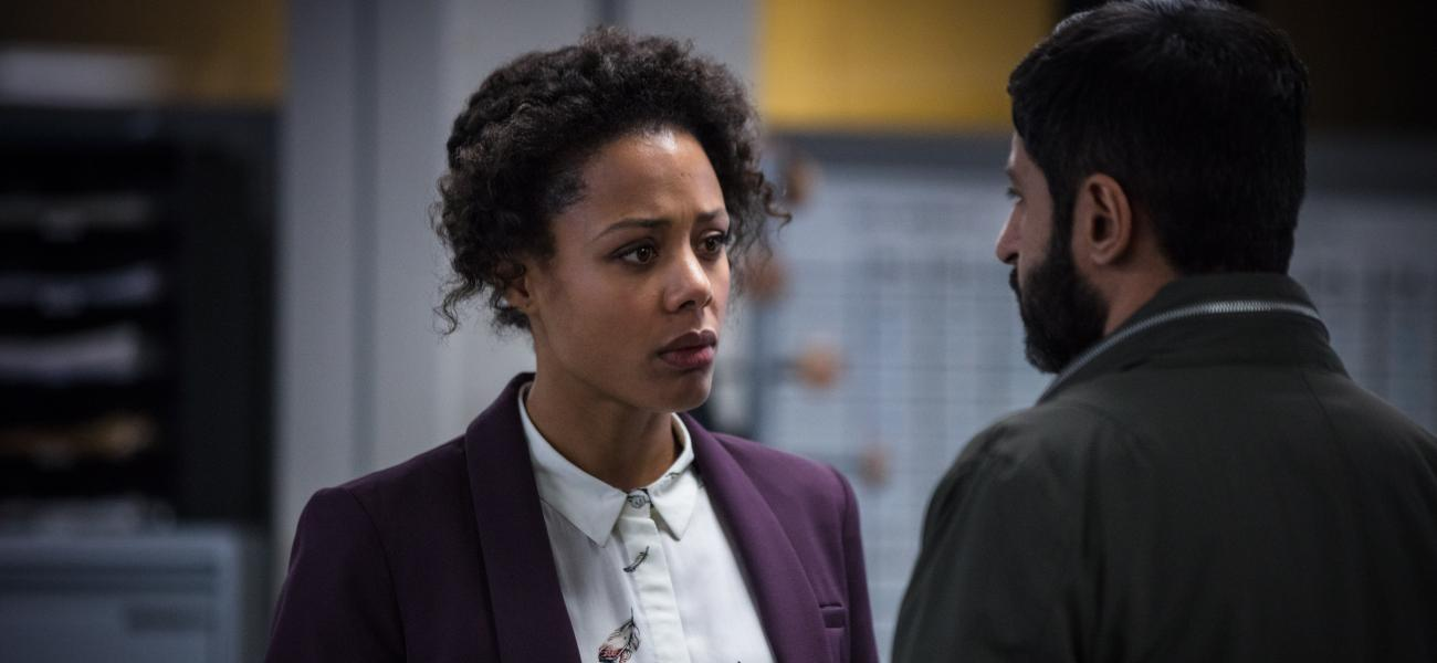 NINA TOUSSAINT-WHITE and MICHAEL SHAEFFER star in BBC One's, BODYGUARD