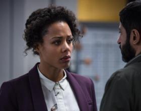 NINA TOUSSAINT-WHITE and MICHAEL SHAEFFER star in BBC One's, BODYGUARD